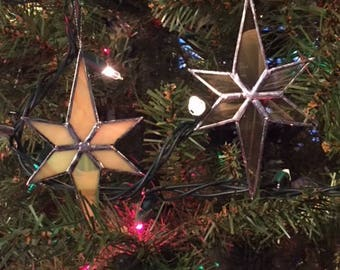 Hand-Crafted, Stained Glass Star Ornaments by Krista