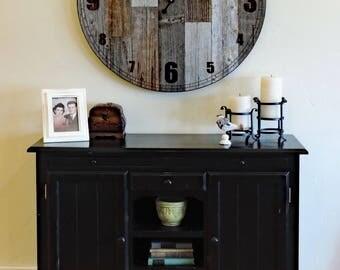 "36 inch ""Papa Bear"" Reclaimed Wood Large Rustic Wall Clock * Oversized Wall Clocks * Giant Wooden Wall Clock * Big * Huge Barn Wood Clock"