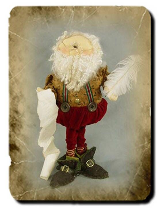 """Doll Kit: Santa's List ~ 20"""" Santa Doll"""