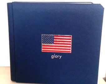Creative Memories-Glory 7x7 Album-American Flag-4th of July-Coverset-No Pages