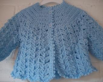 crochet matinee coat