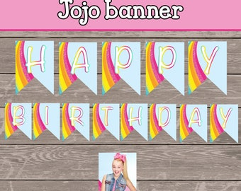 Jojo Siwa  Happy Birthday Banner