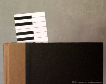 Piano Bookmark - CLASSROOM PACK / Student rewards / Music student prizes / Music party favors / Music bookmarks / Music student gift
