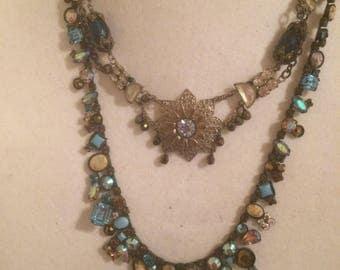 Double Strand Multi-Color Necklace