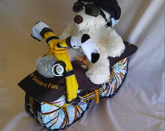 Motorcycle Cake - NFL Pittsburg Steelers