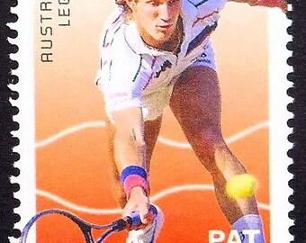 Pat Cash, Australian Legends, Tennis -Handmade Framed Postage Stamp Art 21829AM