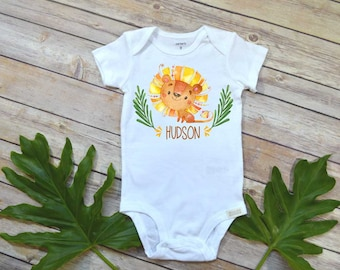 Baby Shower Gift, Personalized Baby Shirt, King of all Wild Things, Little Lion Man, Wild Things shirt, Custom Baby Gift, Baby Name Shirt