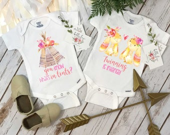 Twins Gift, Funny Twins Gift, Twins Clothes, Twins Baby Shower, Cute Baby Gift, Baby Shower Gift, Twinning, Twins Gift, Camping is in Tents