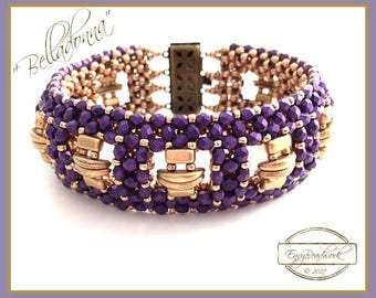 "Beading Kit: ""Belladonna"" Bracelet in English Beads Only! D.I.Y."