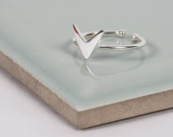 Sterling Silver Heart Midi Ring