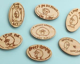 Creature feature cartoon small fridge magnet - sheep & cow cartoons, love tokens, fun gift