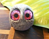 Small Hand Crafted Granite Hoot By Artist Kayla Townsend