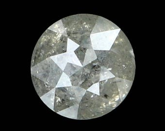 4.60 MM 0.49 Ct Natural Loose Diamond Round Rose Cut Gray Color K3141