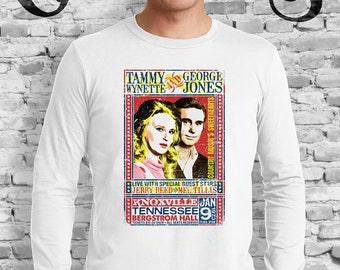 Tammy Wynette and George Jones Concert White T-Shirt. Country Music. Knoxville. Nashville. TN.