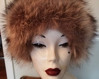 FREE  SHIPPING  Vintage  Fox Fur  Hat