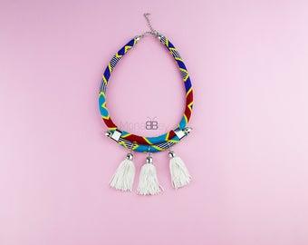 African bib necklace, african fabric necklace for women, ankara necklace, african jewelry,bijoux wax, bijoux africains, collier en tissu wax