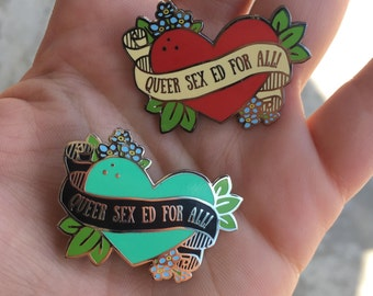 Queer Sex Ed For All pin