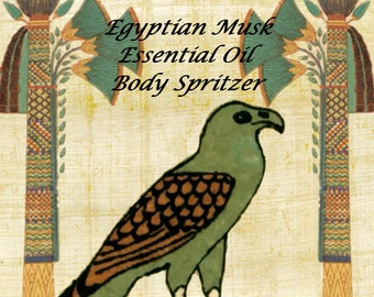 Egyptian Musk Body Spray, Body Spritzer, Body Mist, Fragrance Mist, Body Spray, Body Perfume, Essential Oil