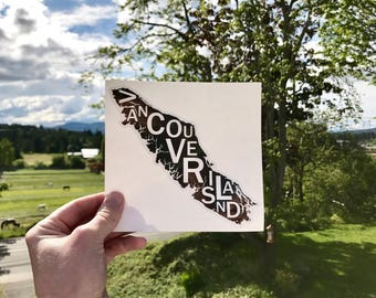 Far Sky Typographic Vancouver Island Vinyl Sticker