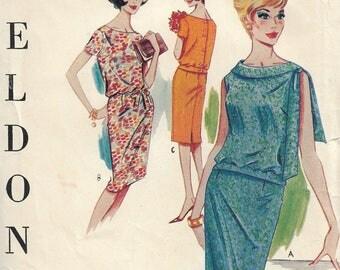 Sewing pattern - dress pattern - shift dress -  vintage sewing pattern - 1960s - Size 14 - Bust 34 - women's sewing pattern