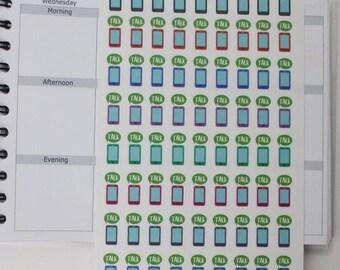 72 cellphone stickers,cellphone reminder,planner sticker ------M106P