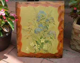 Vintage Wooden Wall Plaque