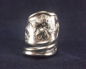 "Spoon Ring 1908 ""Carnation"" Handmade Spoon Jewelry  size 7.5 FREE SHIPPING"