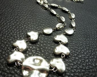 Very Elegant Plated Silver Necklace