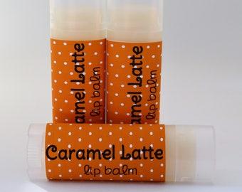 Caramel Latte Sweetened Lip Balm - Caramel Latte Chapstick - Coffee Lip Balm - Coffee Chapstick - Buttery Chapstick - Natural Lip  Butter