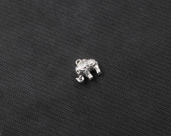 16mm Sterling Silver Elephant Pendants -- 925 Silver Charms Wholesale For Bridesmaid Gift Party XXSP-S0153