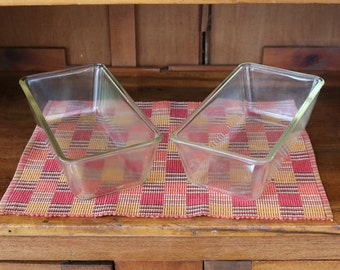 Two (2) Pyrex Extra Long Bread/Loaf Pans ~ Clear Glass ~ Vintage/Antique ~ 1910s ~ 10-5/8 x 5-1/2 x 3-1/2 ~