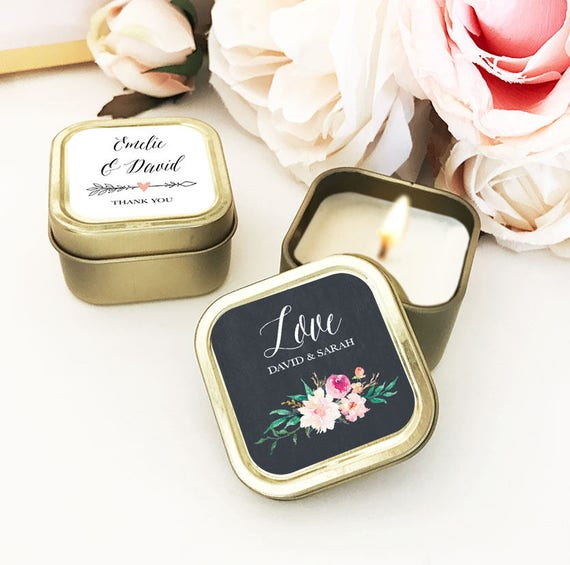 Wedding Favorites Ideas: Gold Wedding Favors Custom Candle Wedding Favors Personalized