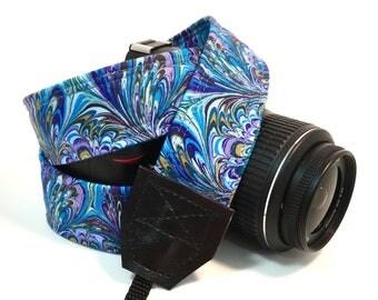 Peacock Camera Strap, Cute Camera Strap, DSLR Camera Strap, Padded Camera Strap, Canon Camera Strap, Nikon Camera Strap, Wedding Gift