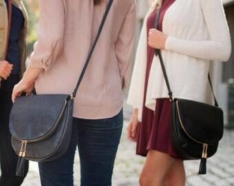 Boho Crossbody Bag, Boho Purse, Monogrammed Crossbody Bag, Tassel Crossbody Bag, Monogrammed Bag, Personalized Bag, Crossbody Purse