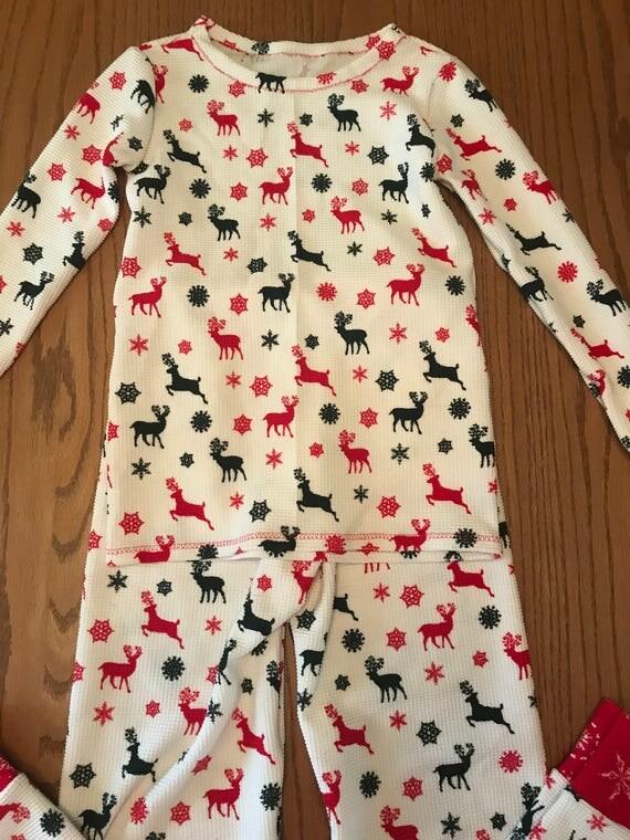 Christmas pajamas,kids Christmas pajamas,knit Christmas pajamas,matching kids Christmas pajamas,reindeer pajamas,red and green pajamas