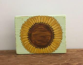 Farmhouse Decor, Sunflower Sign, Sunflower Decor, Wood Sunflower Sign, Handmade Sunflower Sign, Wooden Sunflower Sign, Distressed Sunflower
