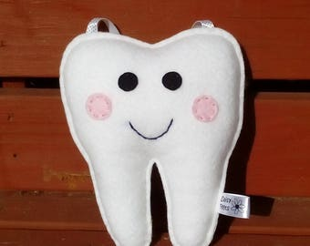 Tooth Pillow, Tooth Holder, White, CE Tested, Tooth Pocket, Gifts for Children, Tooth Pocket, Tooth Fairy, Gifts for Boys, Gifts for Girls