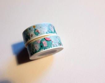 San-x sentimental circus washi tape