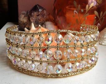 Gold and Crystal Bridal Tiara