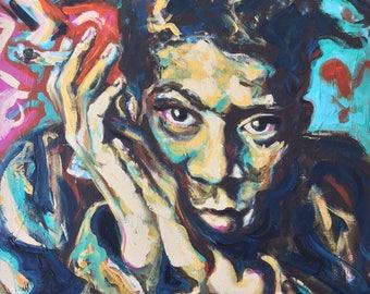 Painting of Jean-Michel Basquiat