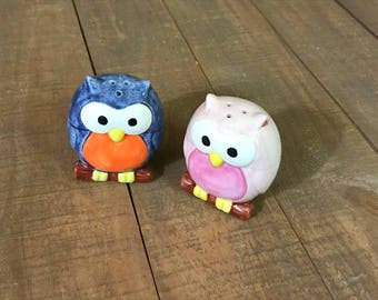 Owl Salt and Pepper Shakers, Owl, Salt and Pepper Shakers, Collectible Owls, Owl Kitchen Decor