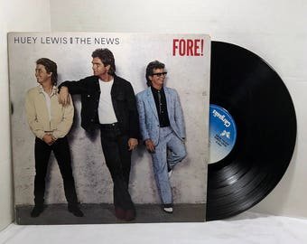 Huey Lewis And The News Fore vinyl record 1986 VG+/EX Pop Rock