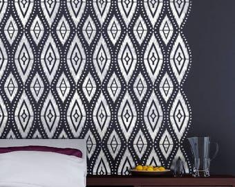 DAKOTA Furniture Wall Craft Stencil / Tribal Bohemian Stencil DAKO01