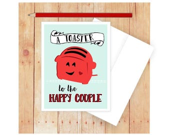 Funny Wedding Card, Funny Anniversary Card, I Love You Card, Funny Pun Card, Punny Card, Love Cards, Vintage Toaster, Puns, Wedding Toast