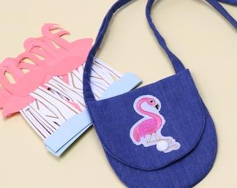 kids purse flamingo design/ toddler purse/ baby purse/ toddler bag/ little girl purse/ little girl bag/ toddler pouch/ Cross body coin purse
