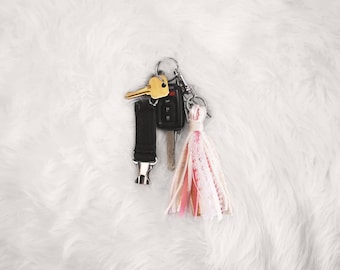The Maxwell Bohemian Tassel Keychain | accessory for purses, planners, backpacks, anything applicable | bohemian | ribbon | tassel