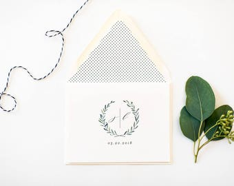 james greenery thank you cards // wedding thank you cards / personalized / stationery / card set / winery olive branch greenery rustic