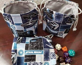 Star Wars Imperial Starfleet D&D Dice/Stash Bags