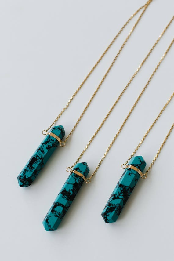 Turquoise Howlite Point Necklace