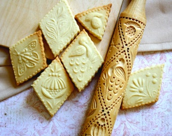 Kitchen and dining room Rolling Pin Baking Accessories Home Decor Kitchen Gadget cookie stamp Baking utensils home and living Baking Tools